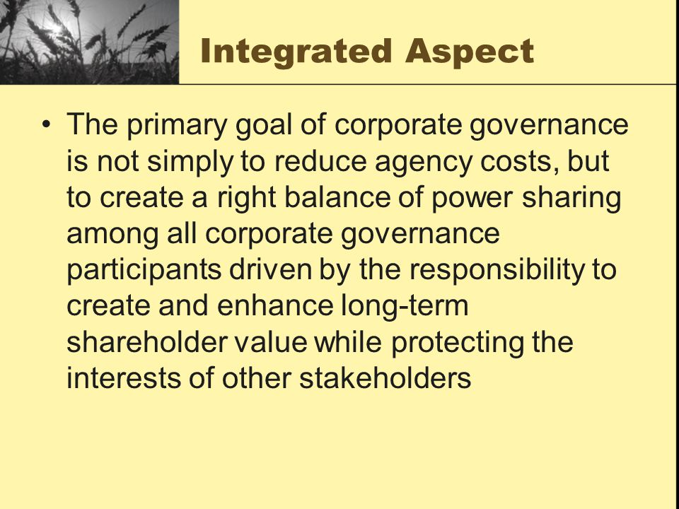Integrated Aspect