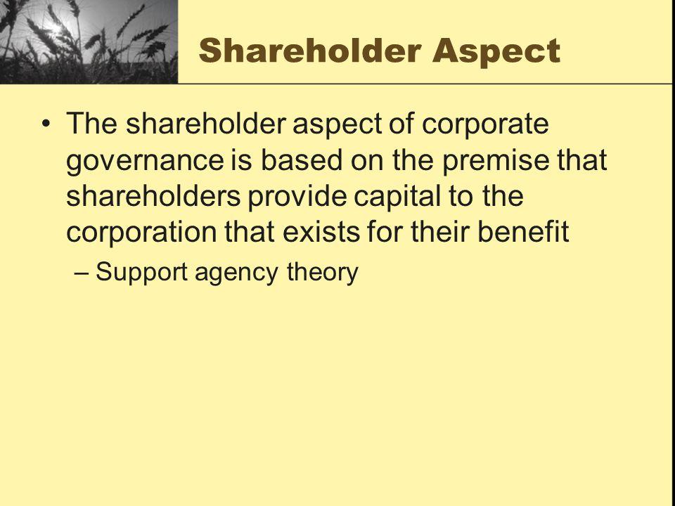 Shareholder Aspect