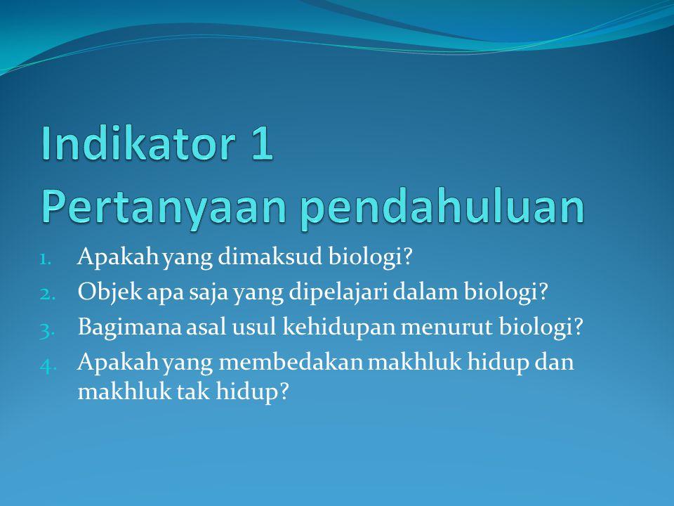 Indikator 1 Pertanyaan pendahuluan