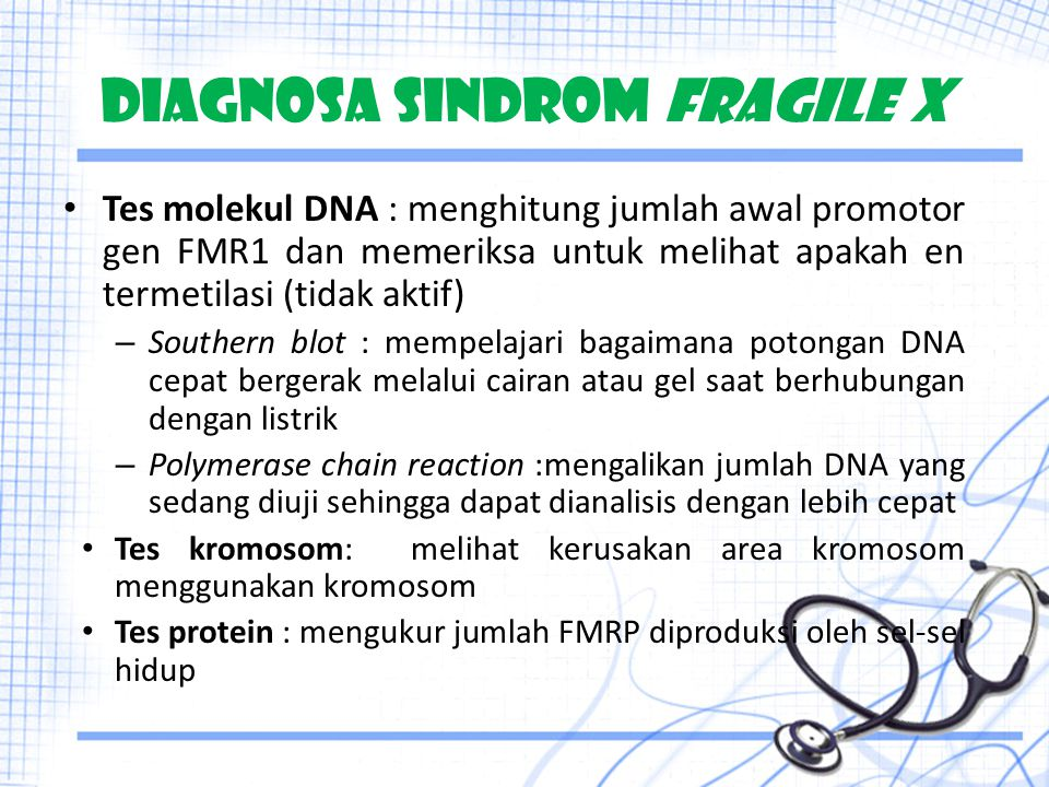 DIAGNOSA SINDROM FRAGILE X
