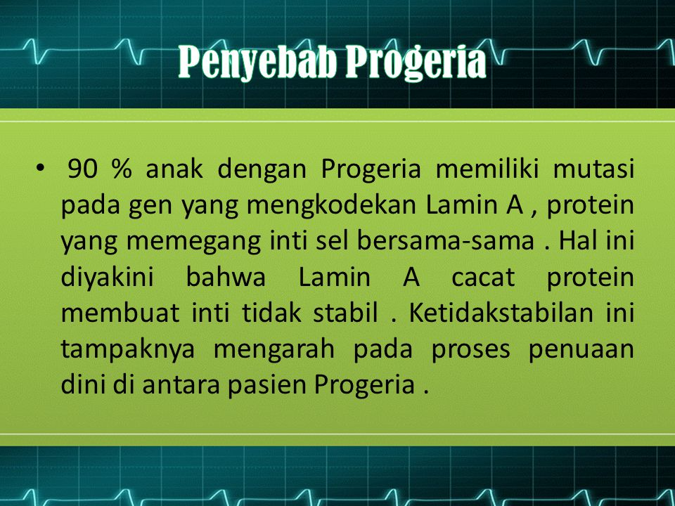 Penyebab Progeria