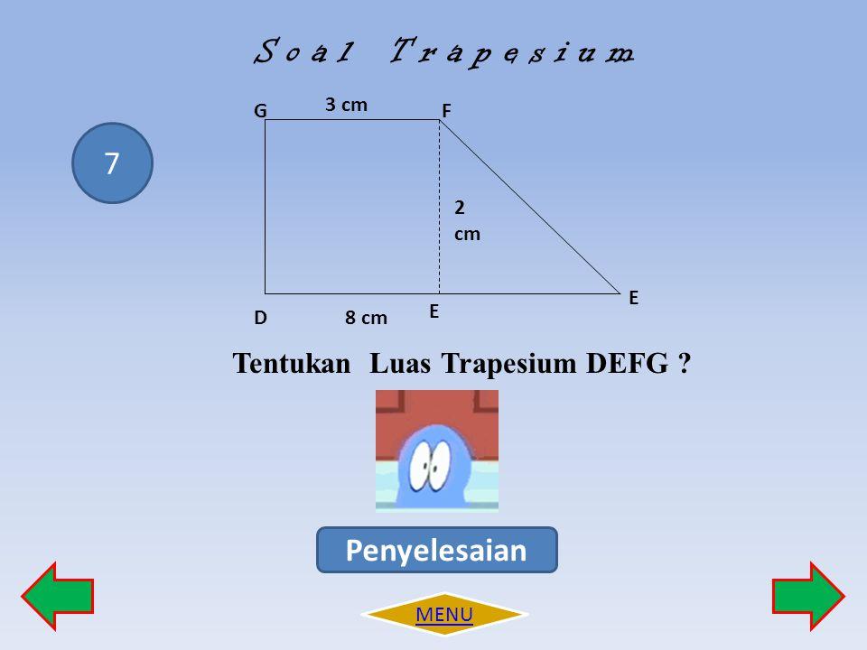 Tentukan Luas Trapesium DEFG