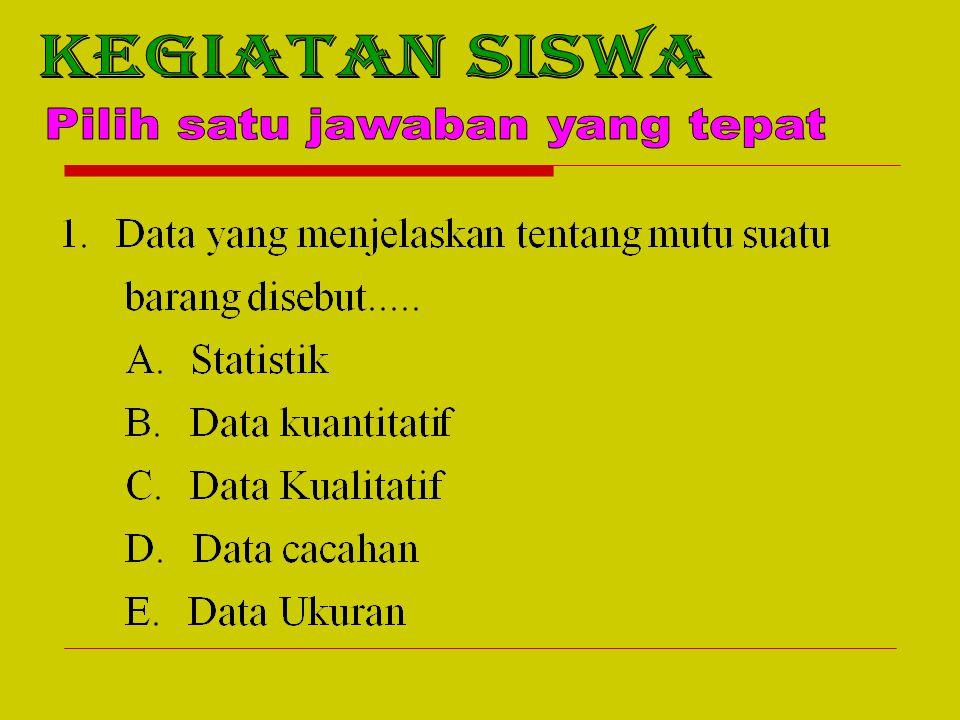 Pilih satu jawaban yang tepat
