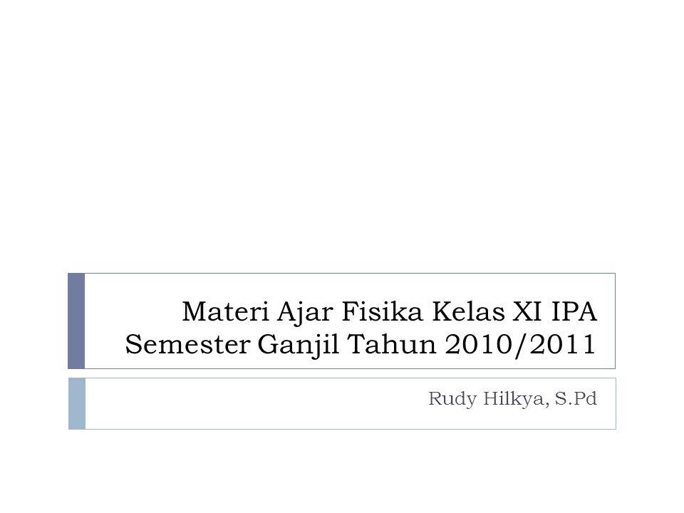 Materi Ajar Fisika Kelas XI IPA Semester Ganjil Tahun 2010/2011