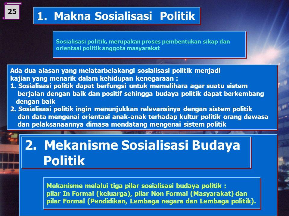 2. Mekanisme Sosialisasi Budaya Politik