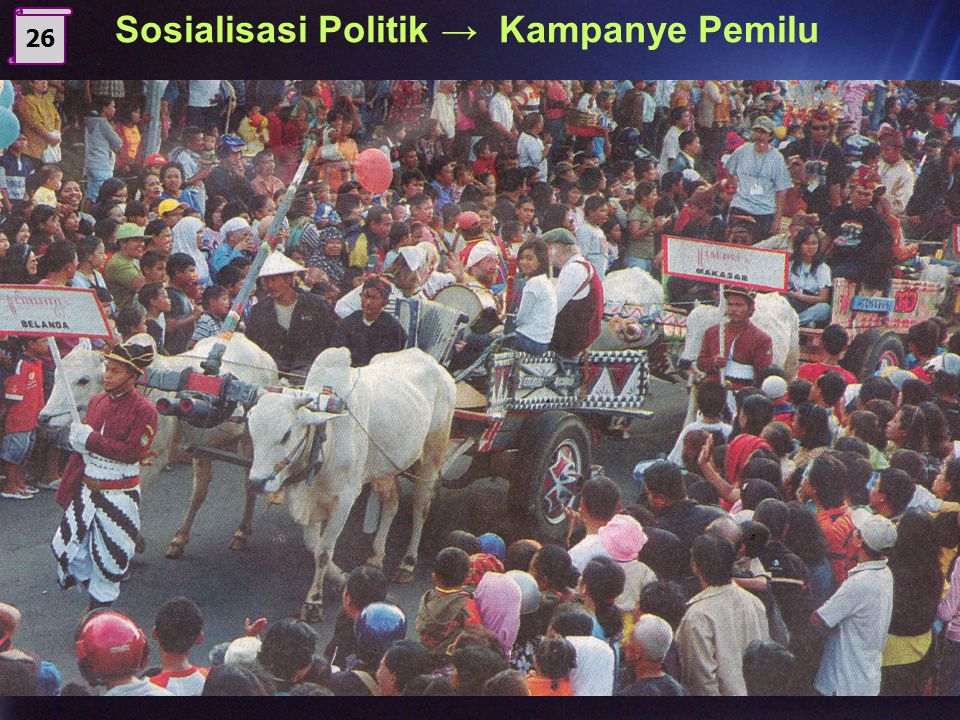 Sosialisasi Politik → Kampanye Pemilu