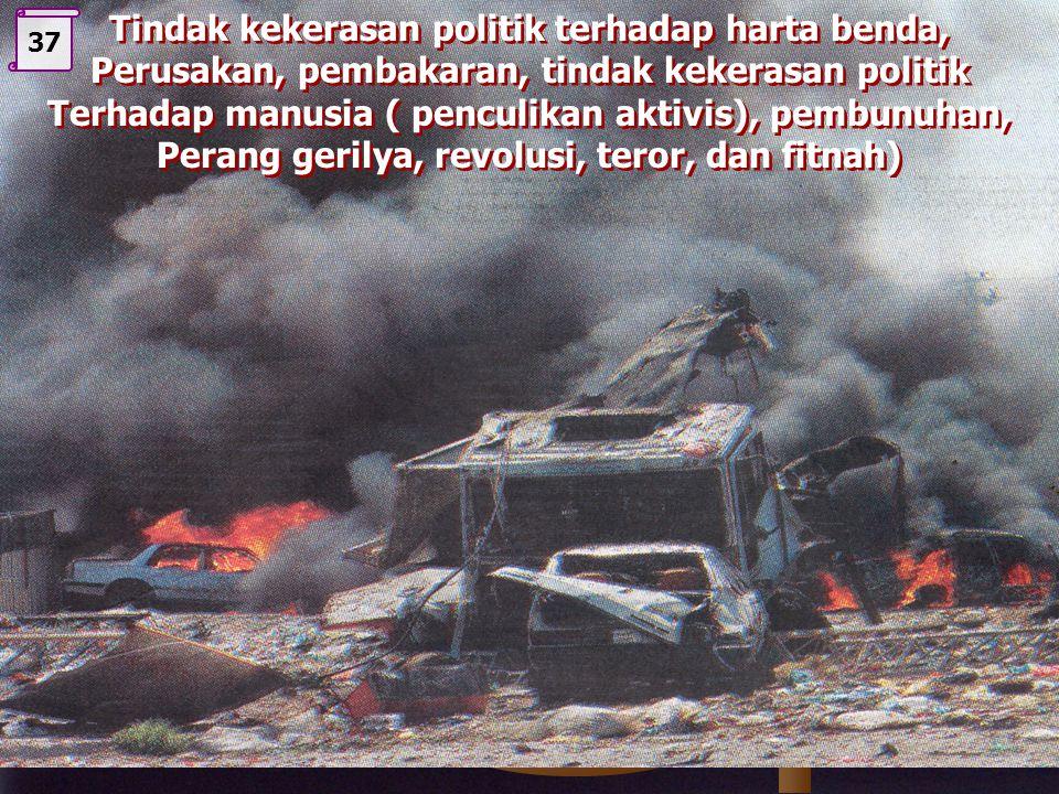 Tindak kekerasan politik terhadap harta benda,