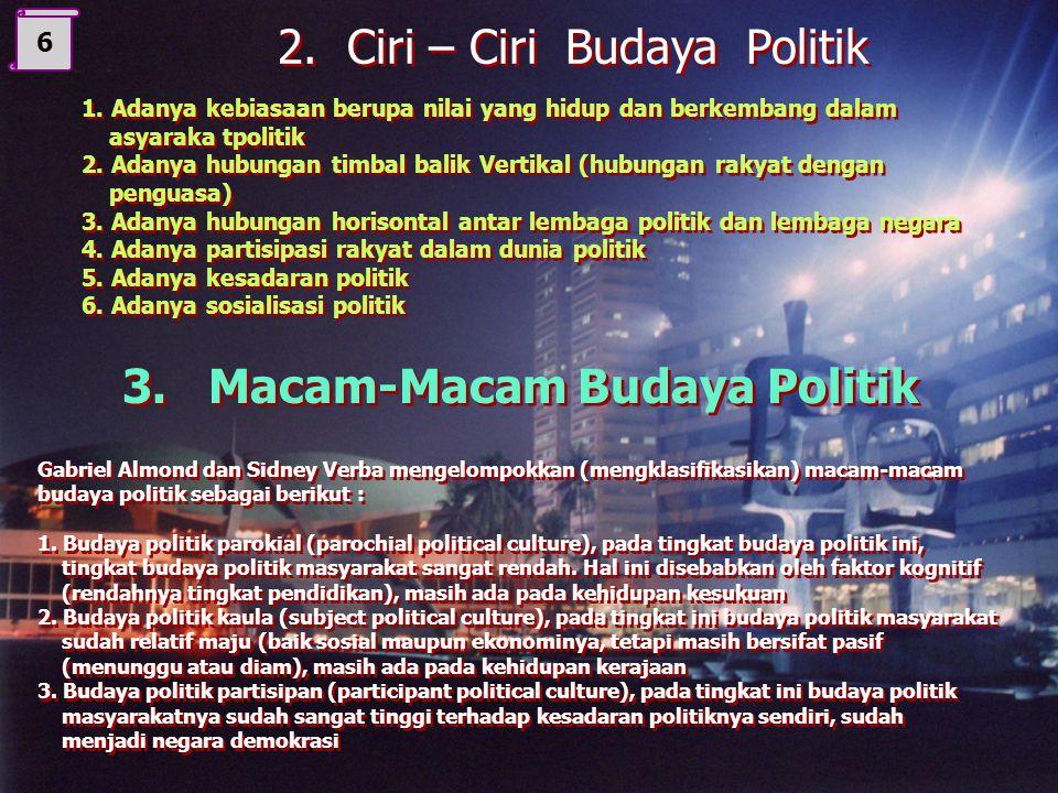 3. Macam-Macam Budaya Politik