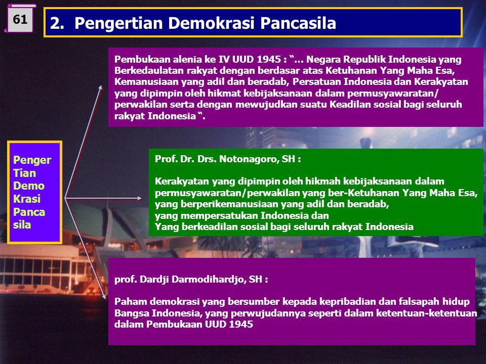 2. Pengertian Demokrasi Pancasila