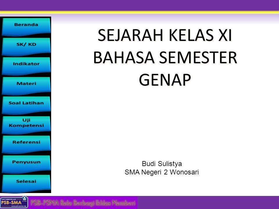 SEJARAH KELAS XI BAHASA SEMESTER GENAP