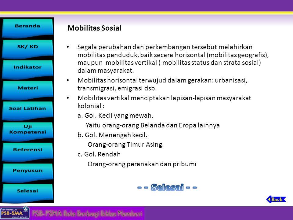 Mobilitas Sosial - - Selesai - -