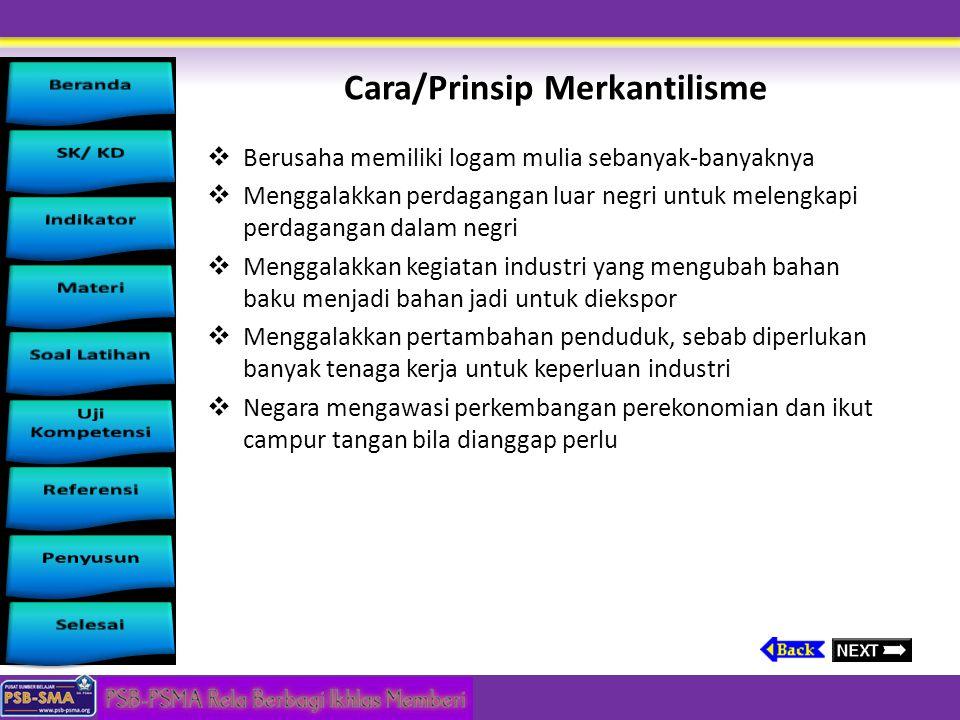Cara/Prinsip Merkantilisme
