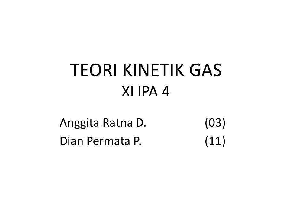 TEORI KINETIK GAS XI IPA 4