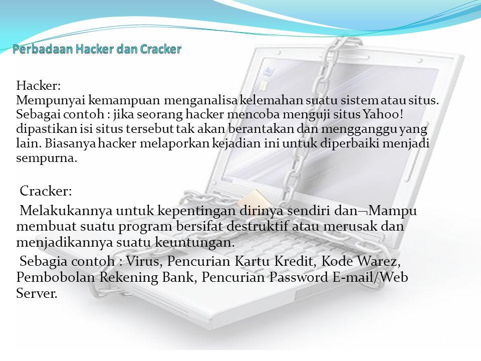 Perbadaan Hacker dan Cracker