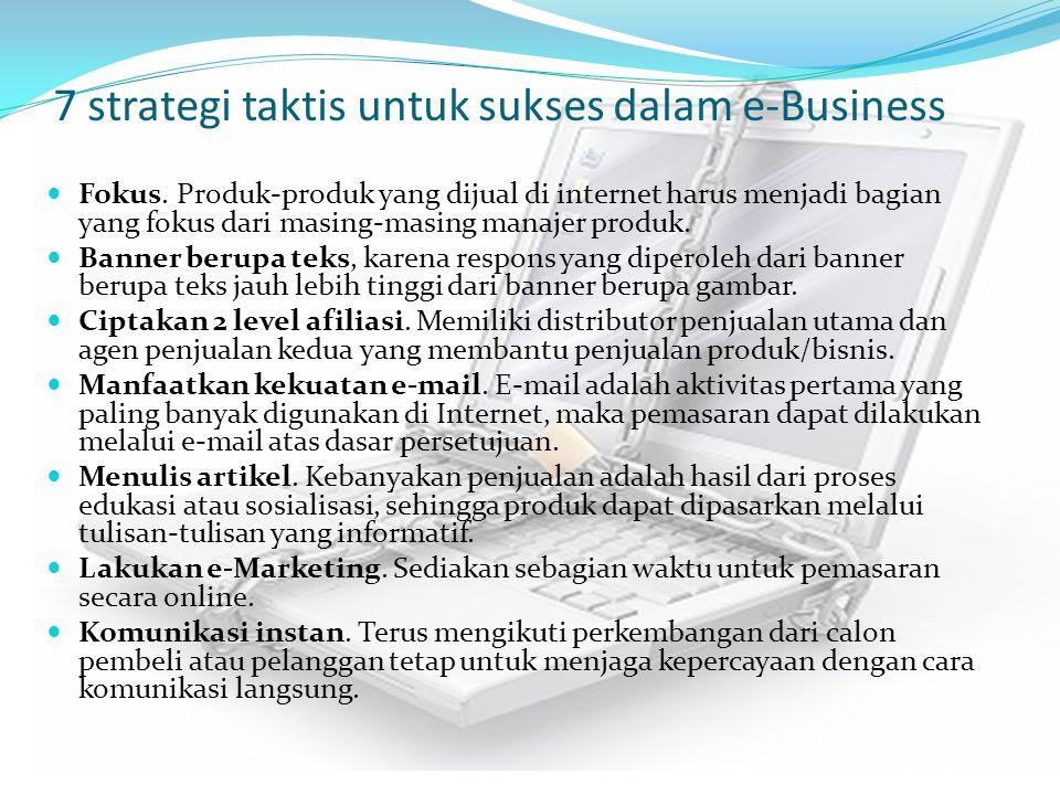 7 strategi taktis untuk sukses dalam e-Business