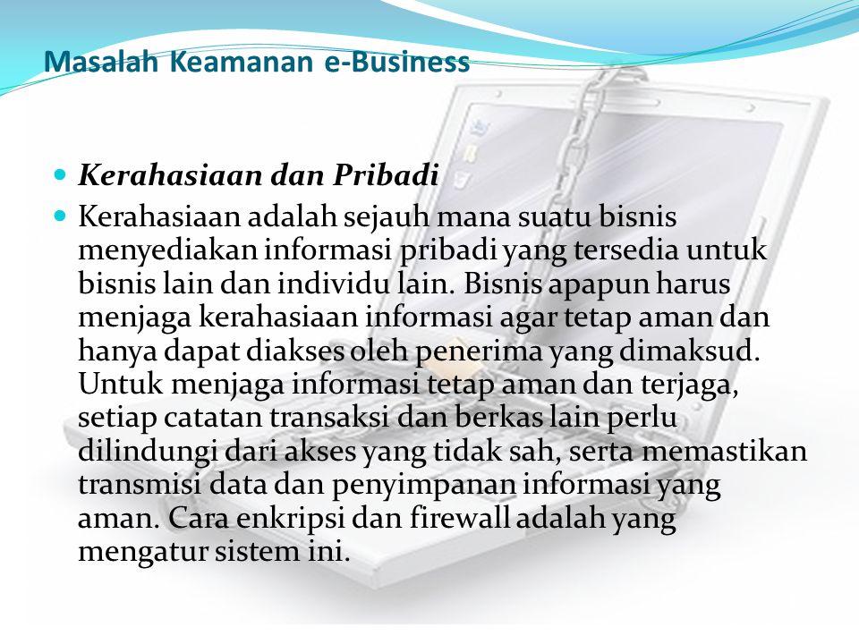 Masalah Keamanan e-Business