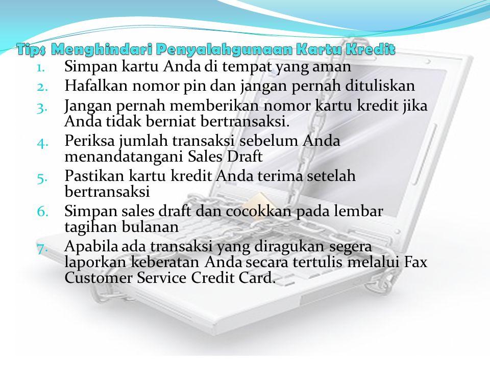 Tips Menghindari Penyalahgunaan Kartu Kredit