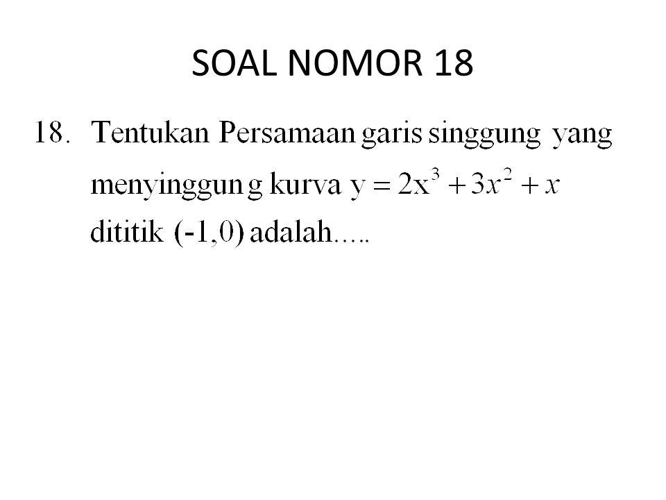 SOAL NOMOR 18
