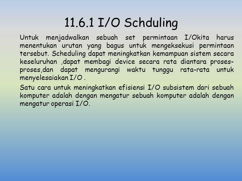 11.6.1 I/O Schduling