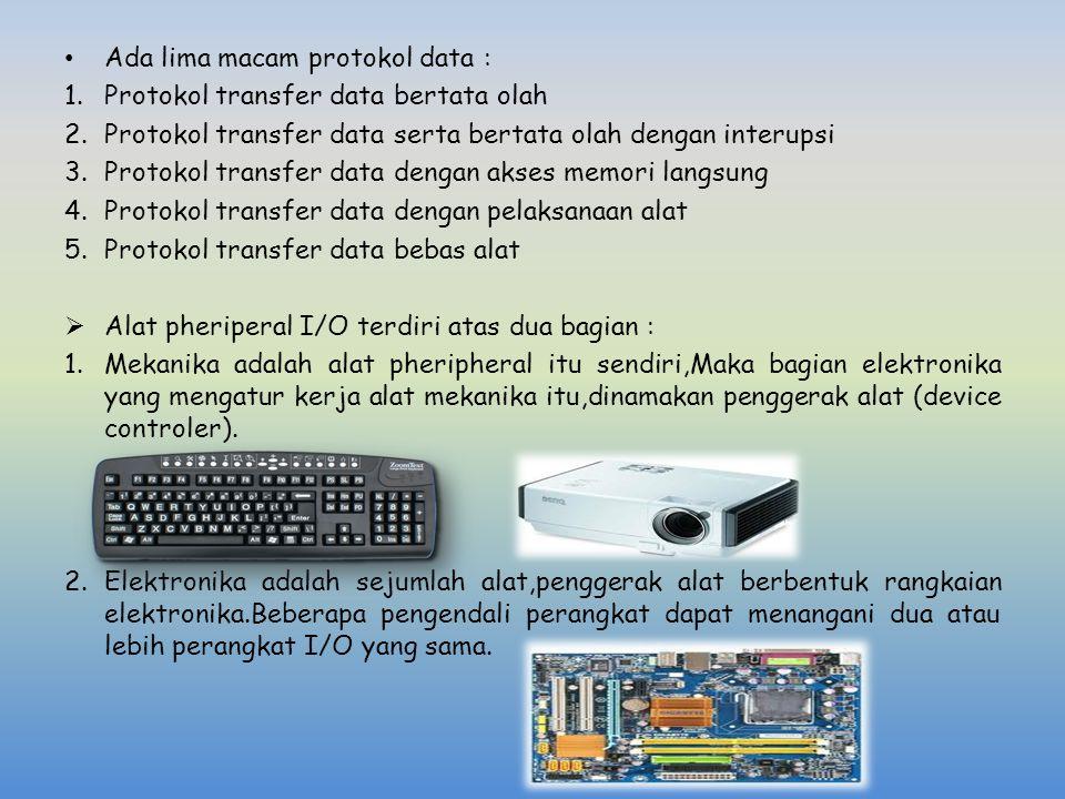 Ada lima macam protokol data :