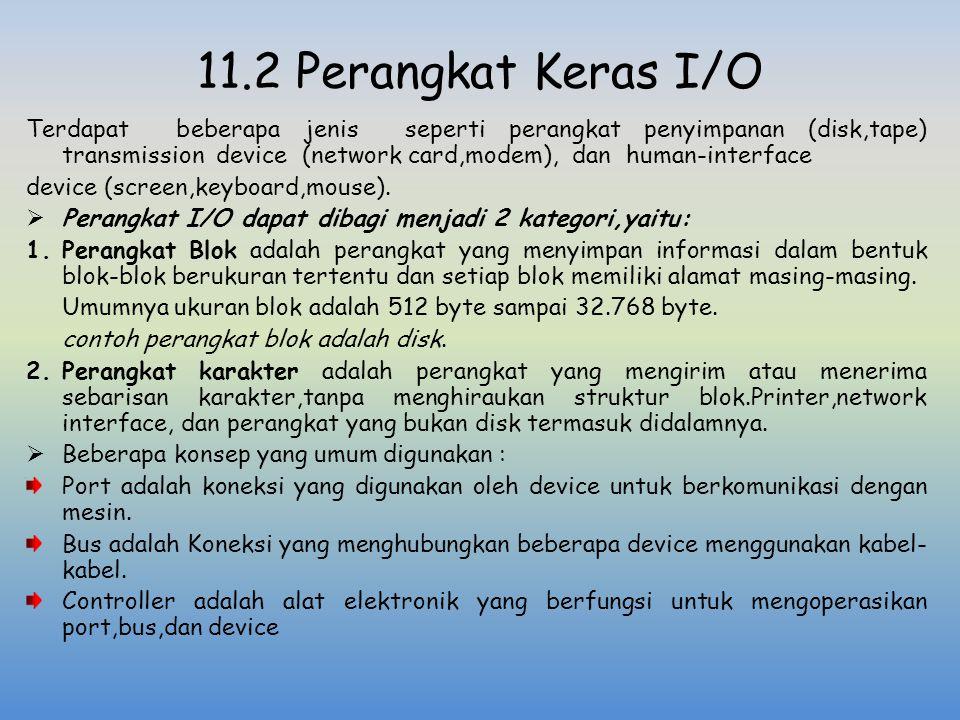 11.2 Perangkat Keras I/O
