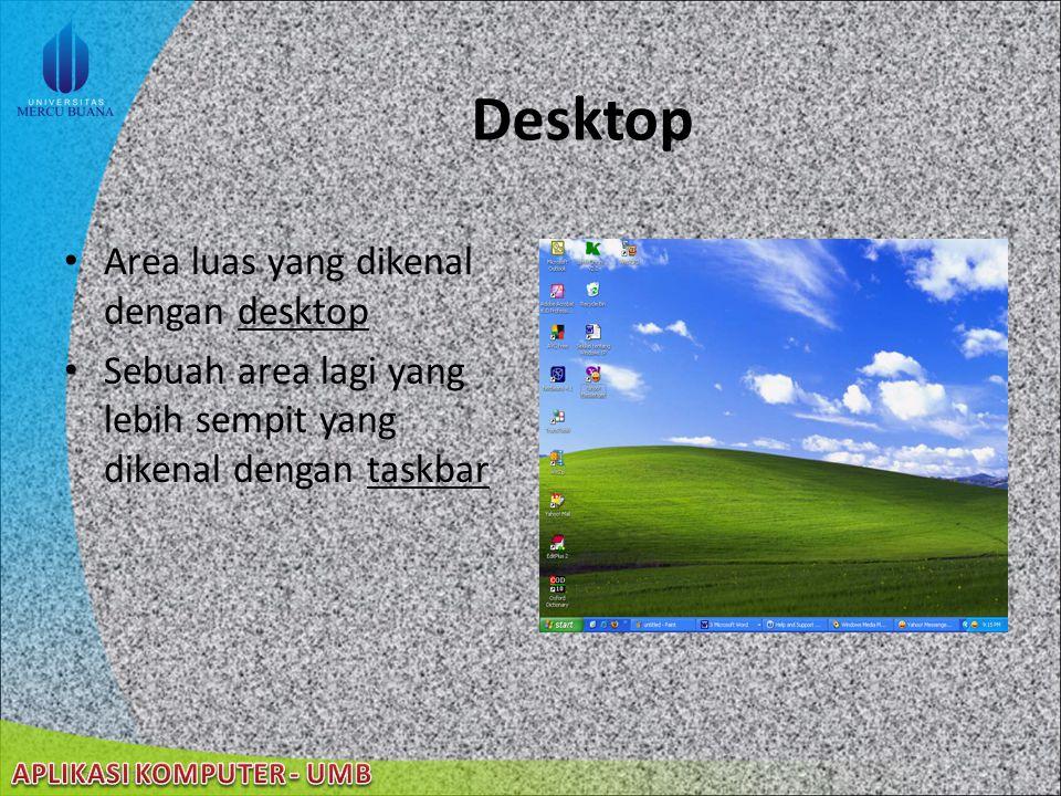 Desktop Area luas yang dikenal dengan desktop