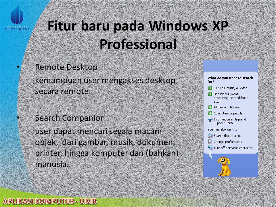 Fitur baru pada Windows XP Professional