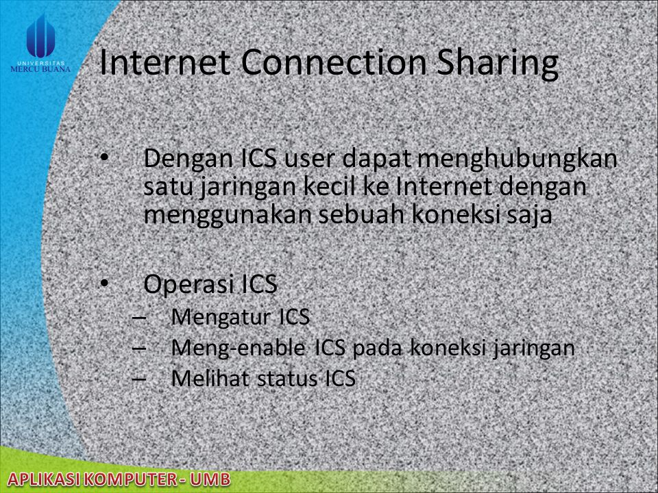 Internet Connection Sharing