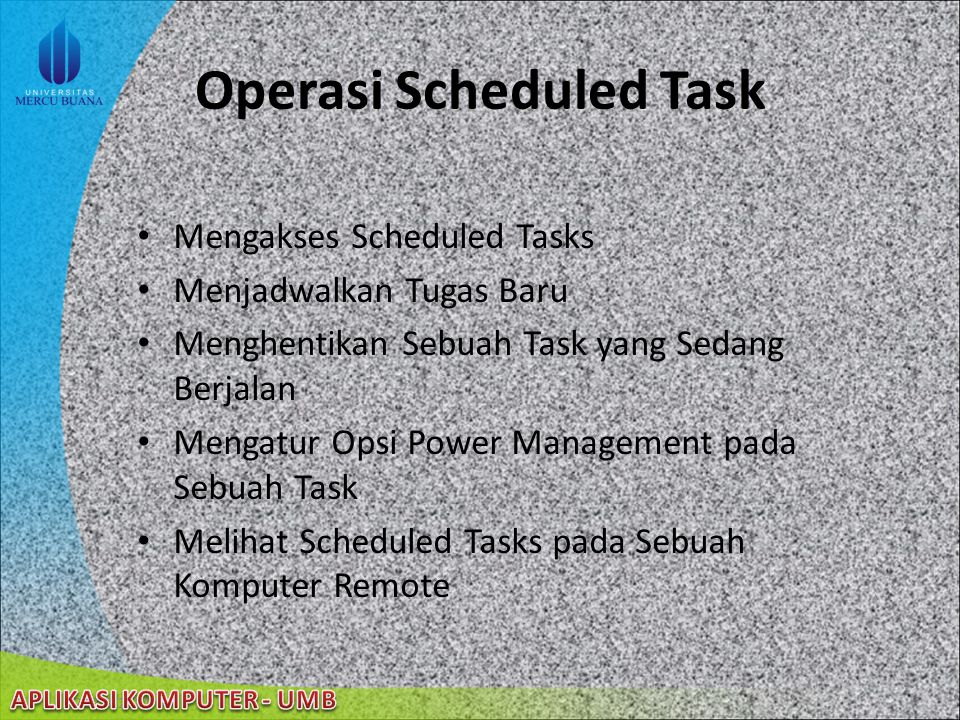 Operasi Scheduled Task