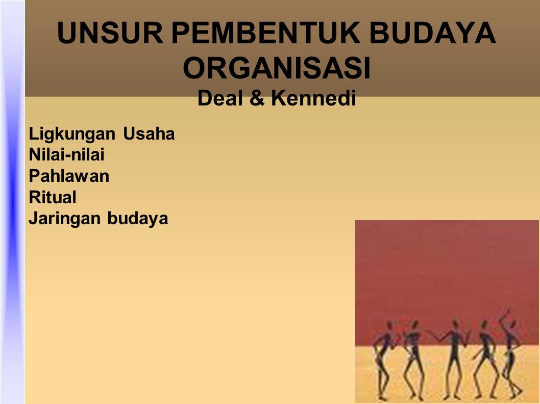 UNSUR PEMBENTUK BUDAYA ORGANISASI Deal & Kennedi