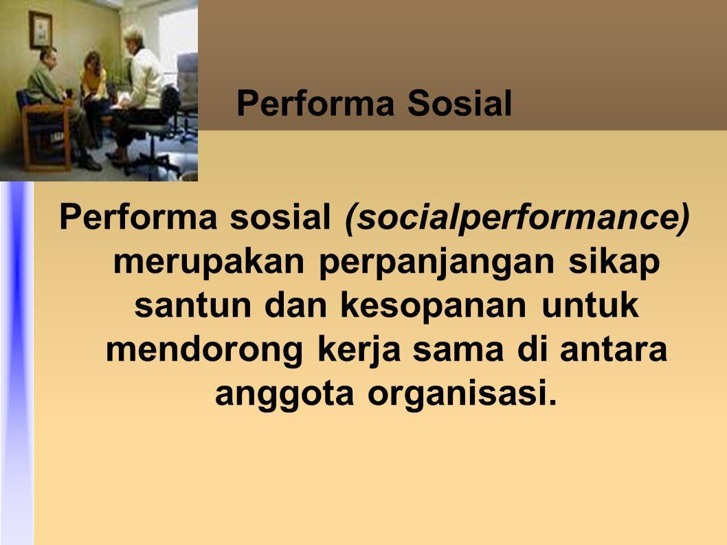 Performa Sosial