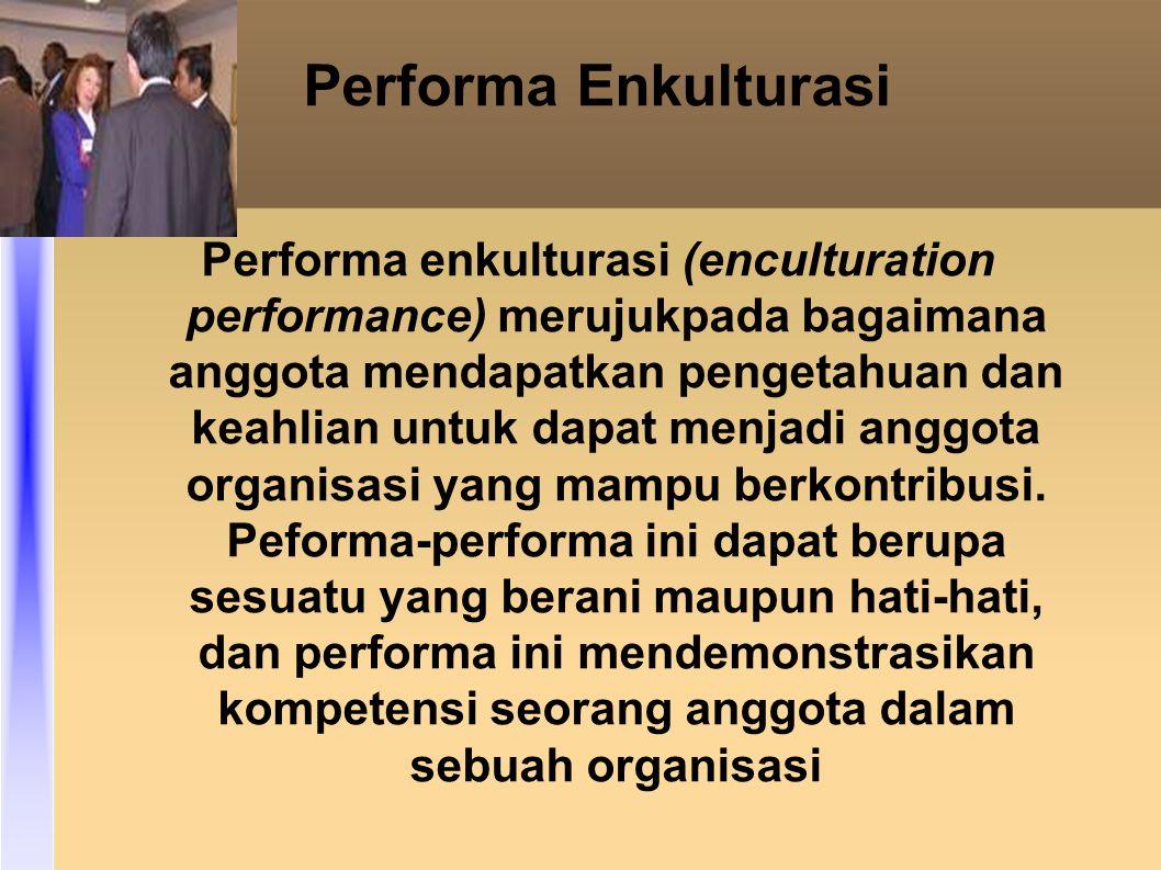 Performa Enkulturasi
