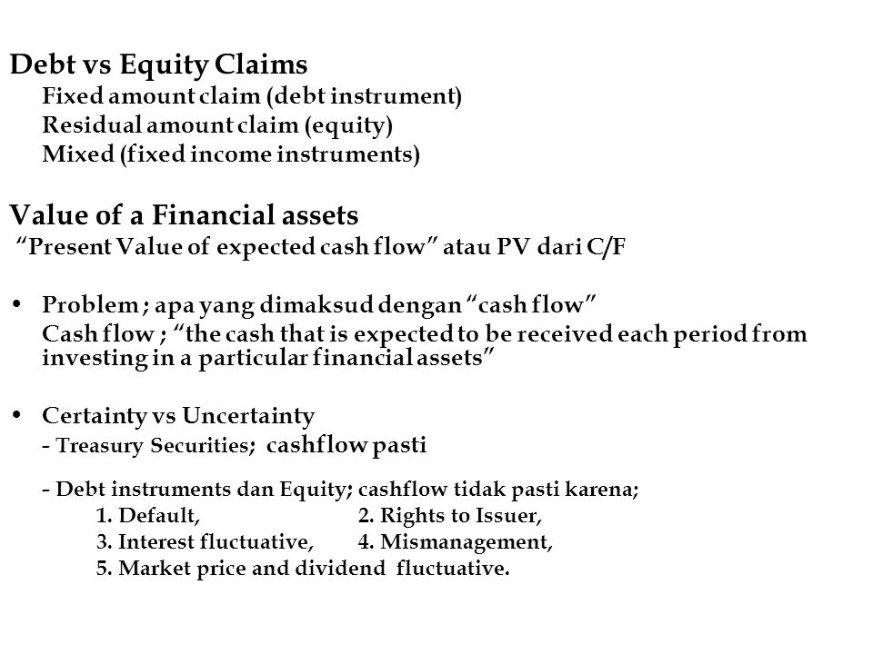 Value of a Financial assets