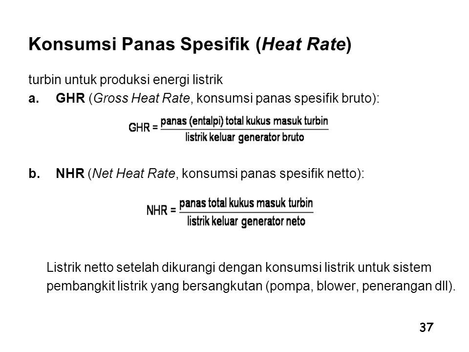 Konsumsi Panas Spesifik (Heat Rate)