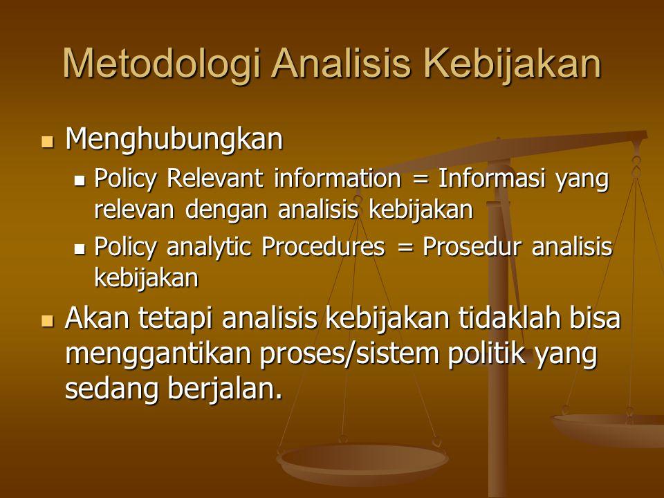 Metodologi Analisis Kebijakan