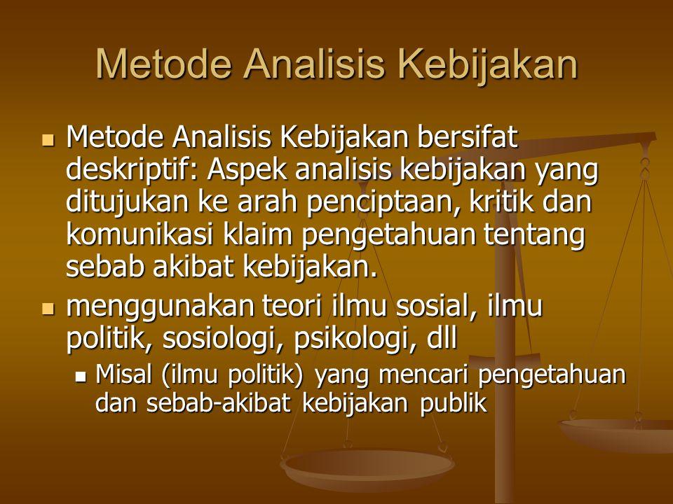 Metode Analisis Kebijakan