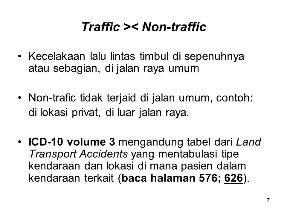 Traffic >< Non-traffic