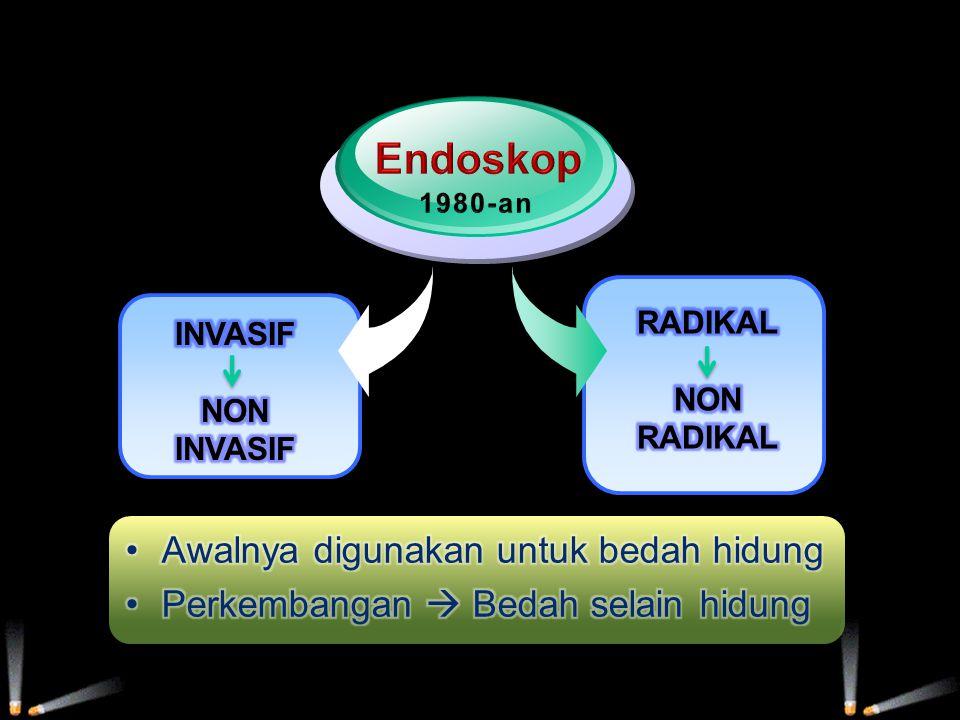 Endoskop Awalnya digunakan untuk bedah hidung