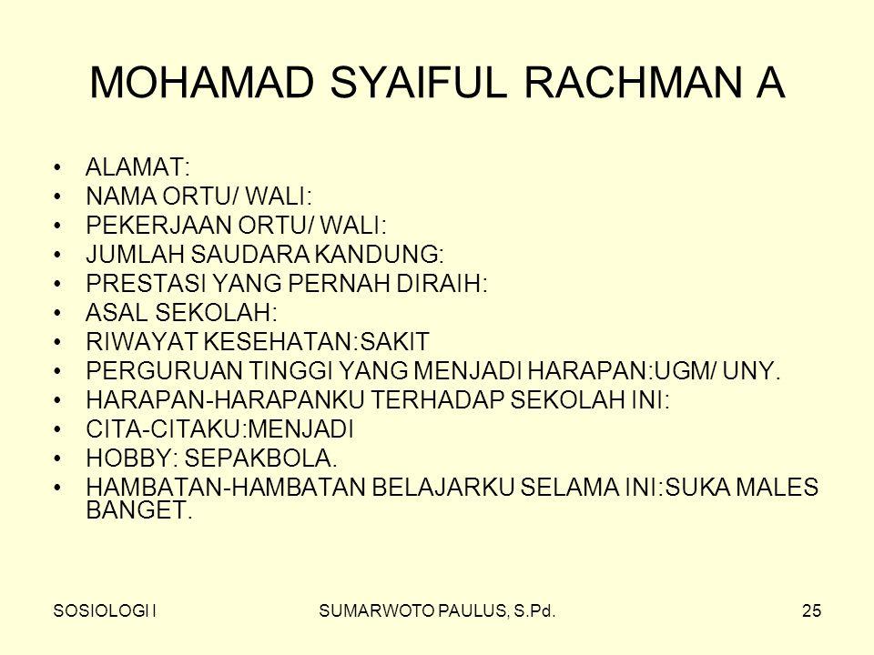 MOHAMAD SYAIFUL RACHMAN A