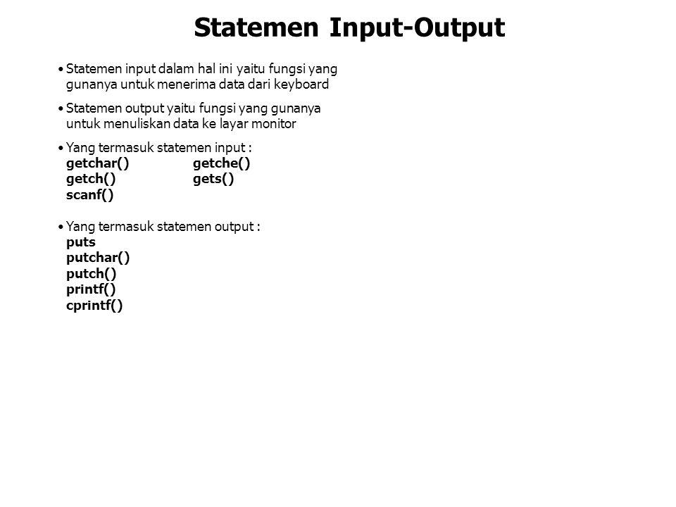 Statemen Input-Output
