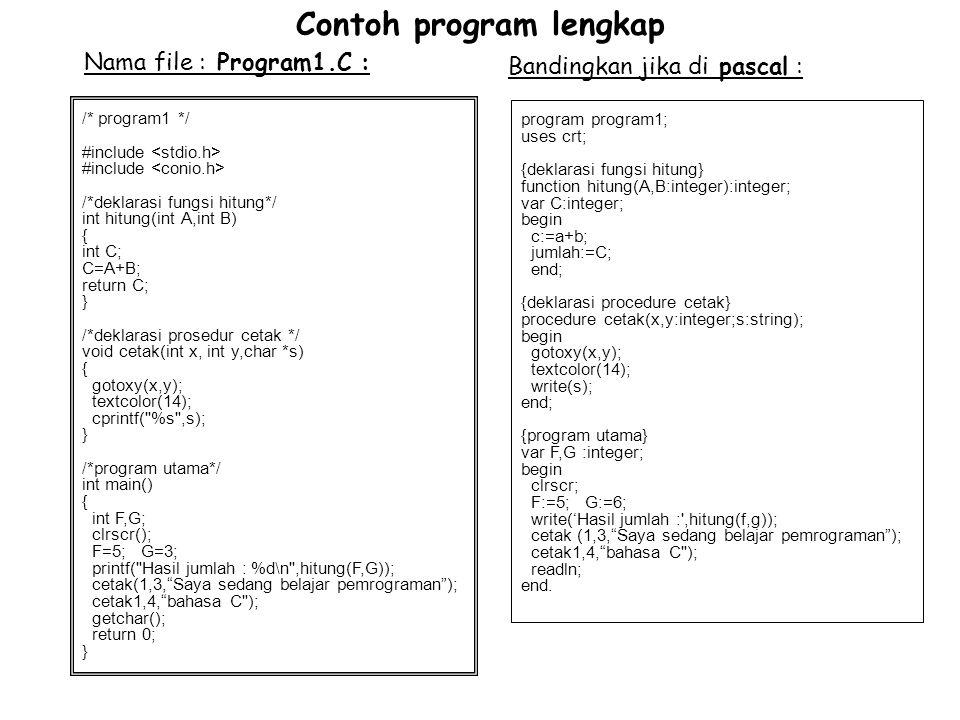 Contoh program lengkap