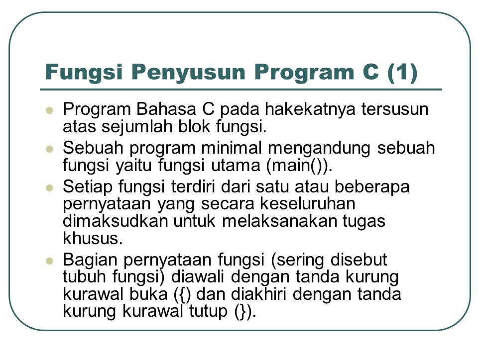 Fungsi Penyusun Program C (1)