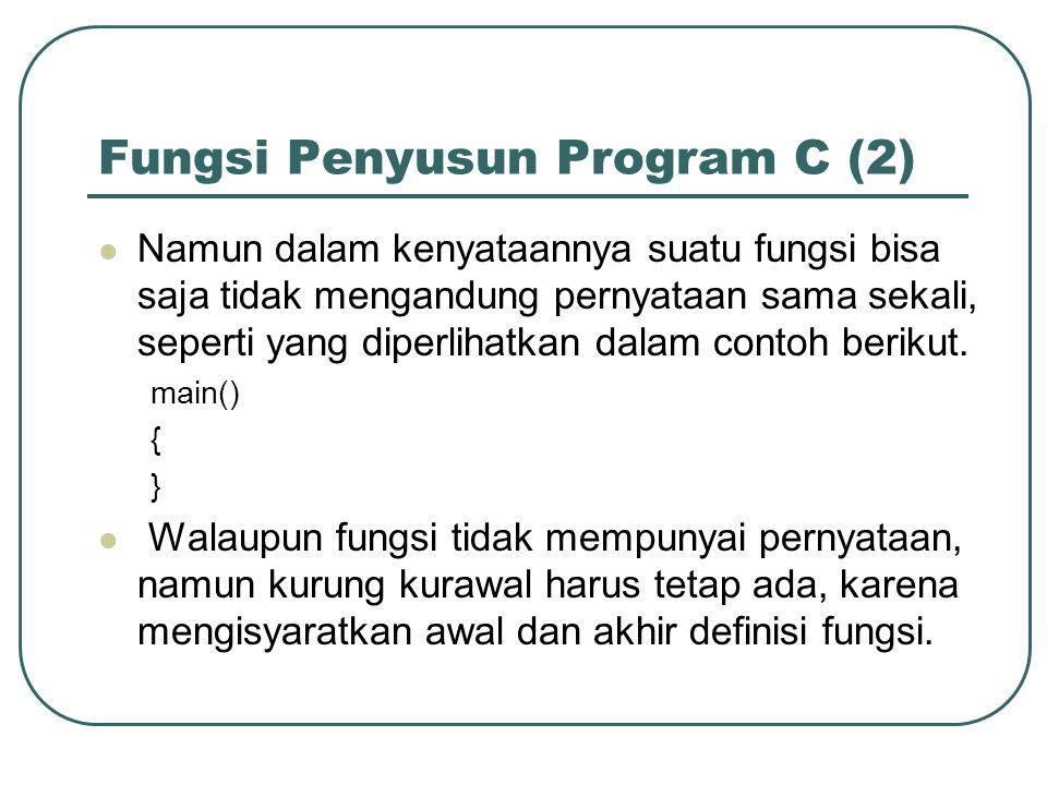 Fungsi Penyusun Program C (2)