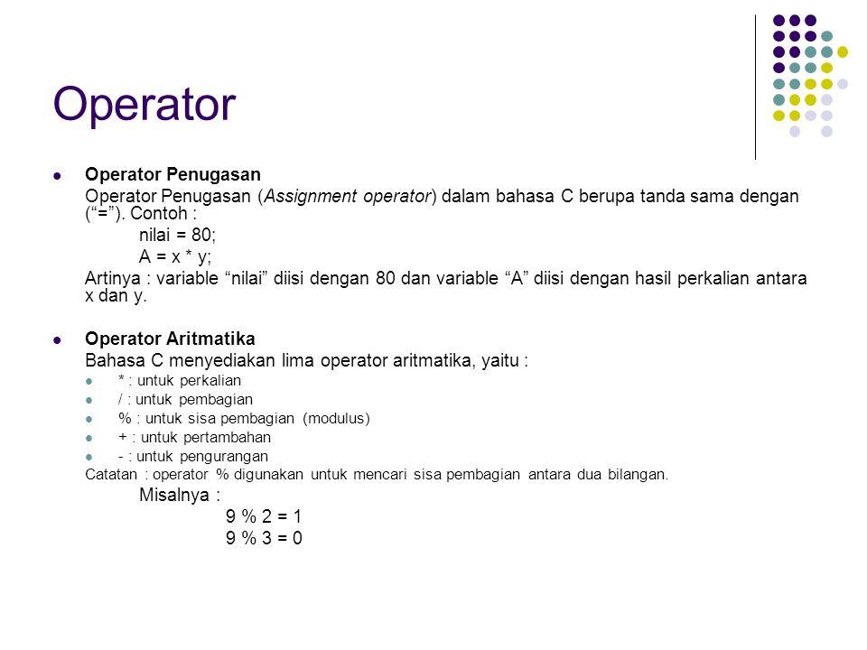 Operator Operator Penugasan