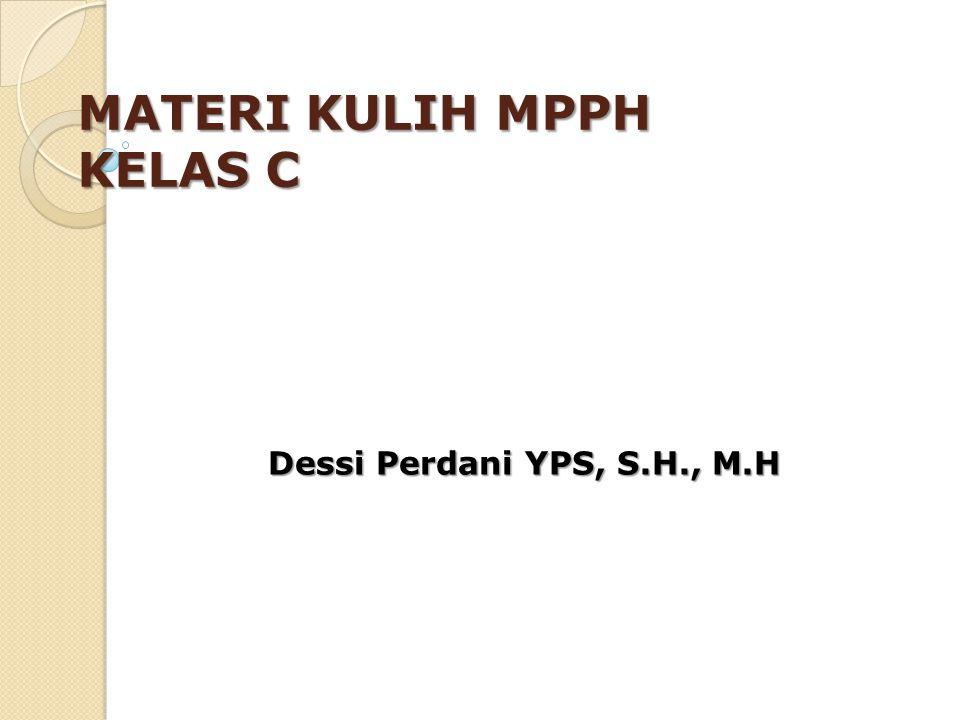 MATERI KULIH MPPH KELAS C