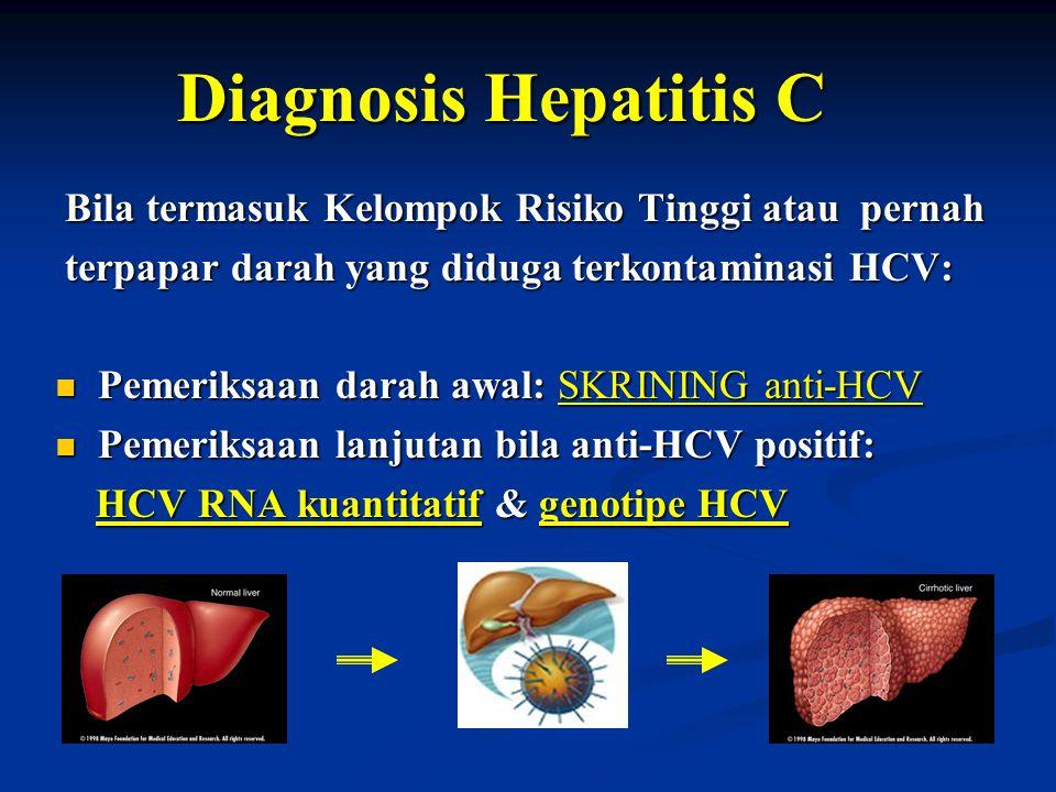 Diagnosis Hepatitis C Bila termasuk Kelompok Risiko Tinggi atau pernah