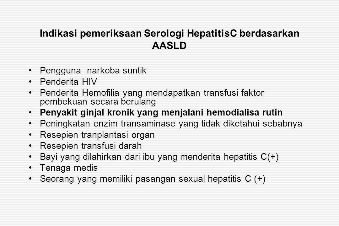 Indikasi pemeriksaan Serologi HepatitisC berdasarkan AASLD