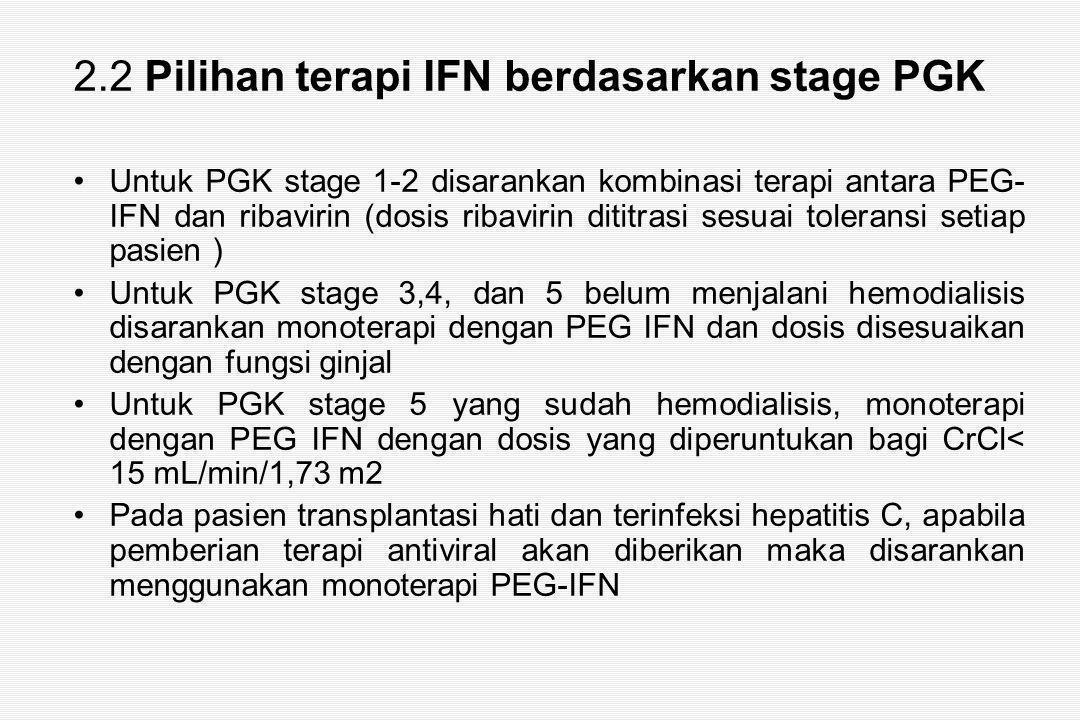 2.2 Pilihan terapi IFN berdasarkan stage PGK