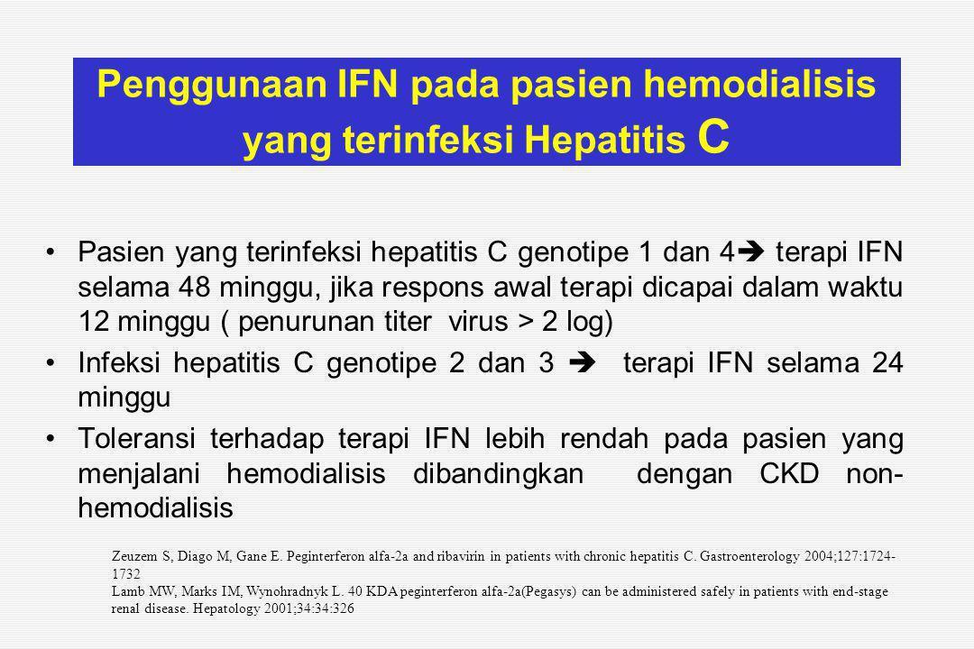 Penggunaan IFN pada pasien hemodialisis yang terinfeksi Hepatitis C