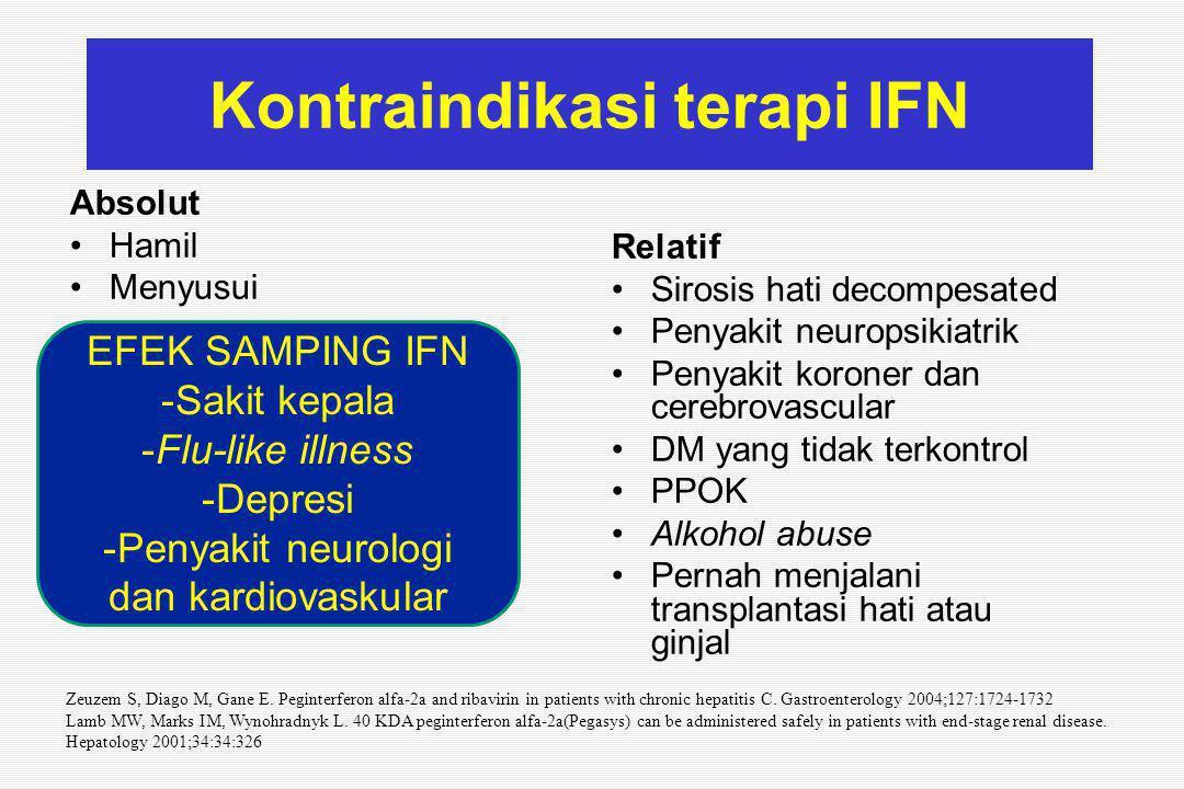 Kontraindikasi terapi IFN